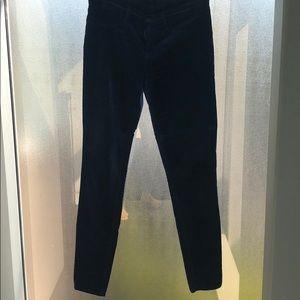 Jbrand velvet skinny jeans